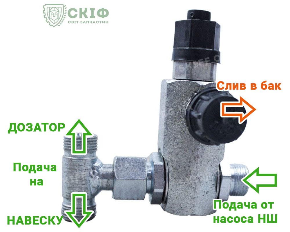 Схема подключения Клапана на деления потока Т-25, Т-16