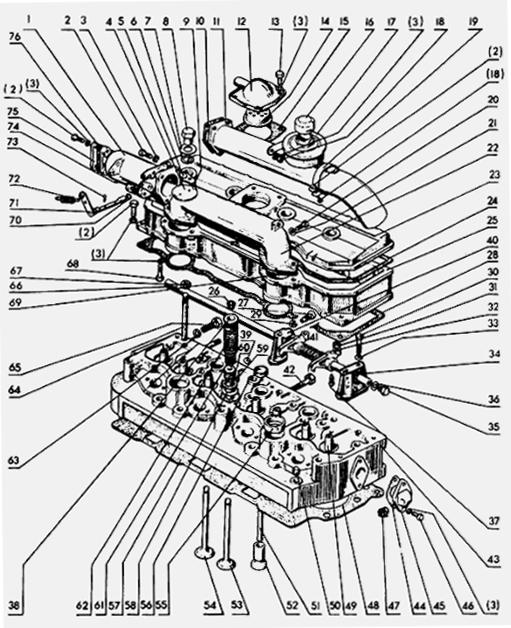 Прокладка колпака крышки головки цилиндров МТЗ 245-1003109.