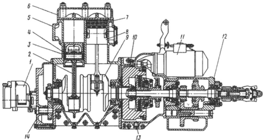 Пусковой двигатель ПД-23 (Т-130, Т-170, Б-10)
