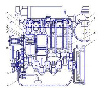 Устройство головки блока цилиндров СМД-18 (ДТ-75, ТДТ-55А, ЛХТ-55)